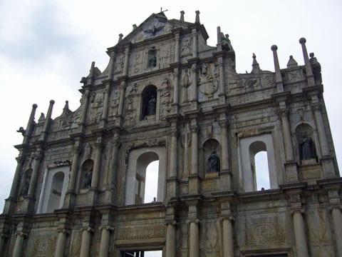 The Ruins of St. Pauls in Macau.