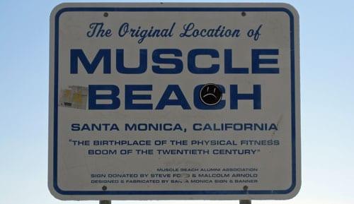 Welcome to Muscle Beach Santa Monica!