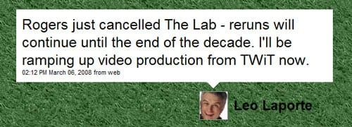 The Lab With Leo is Cancelled!