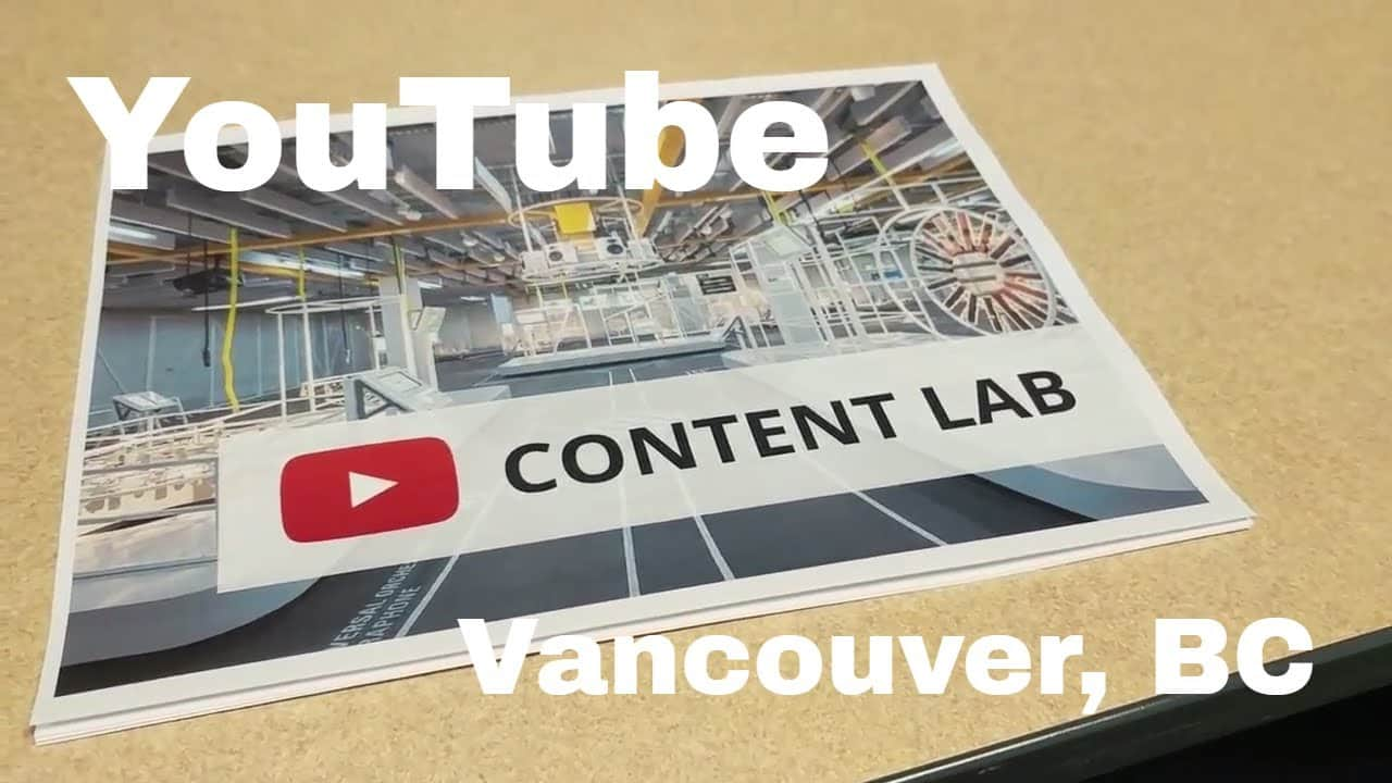 Vlog #3 - The YouTube Creator Content Lab (Vancouver, BC)